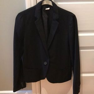 J. Crew shrunken black blazer size 4